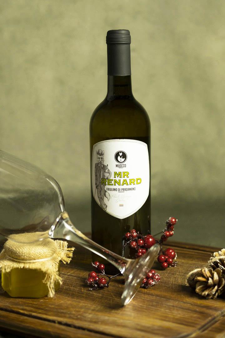 Bottiglia di Friulano Milocco.