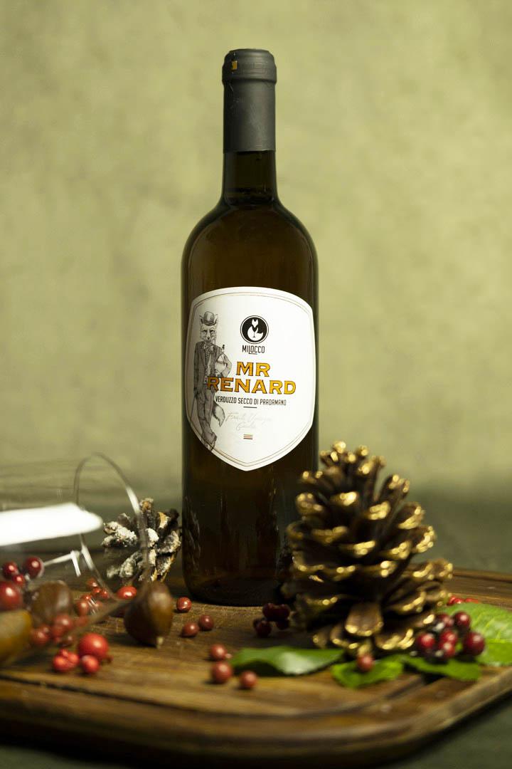 Bottiglia di Verduzzo Secco Milocco.